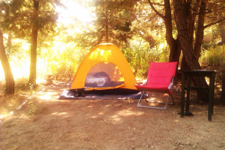 Camping at Drolma Ling