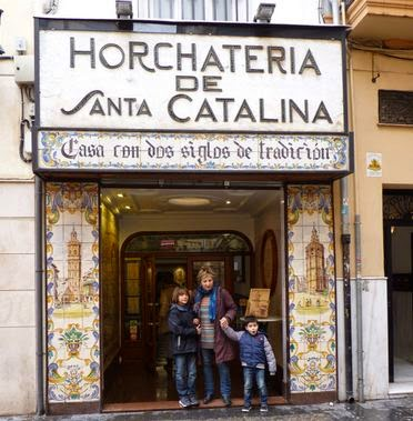 Horchatería cercana a la Redonda, Valencia.