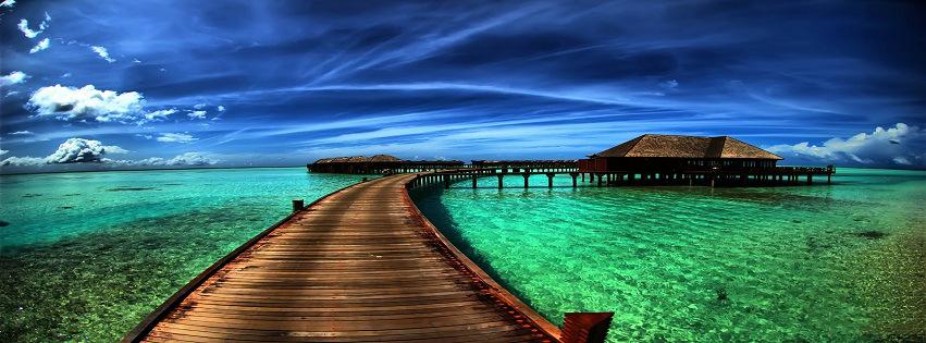 Beautiful Scene Over The Beach