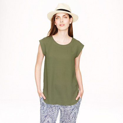 Sleeveless Drapey Top
