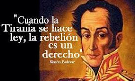 Honor y gloria al Libertador Simón Bolívar
