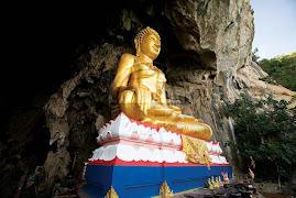 Buddha Image top of Erawan Cave