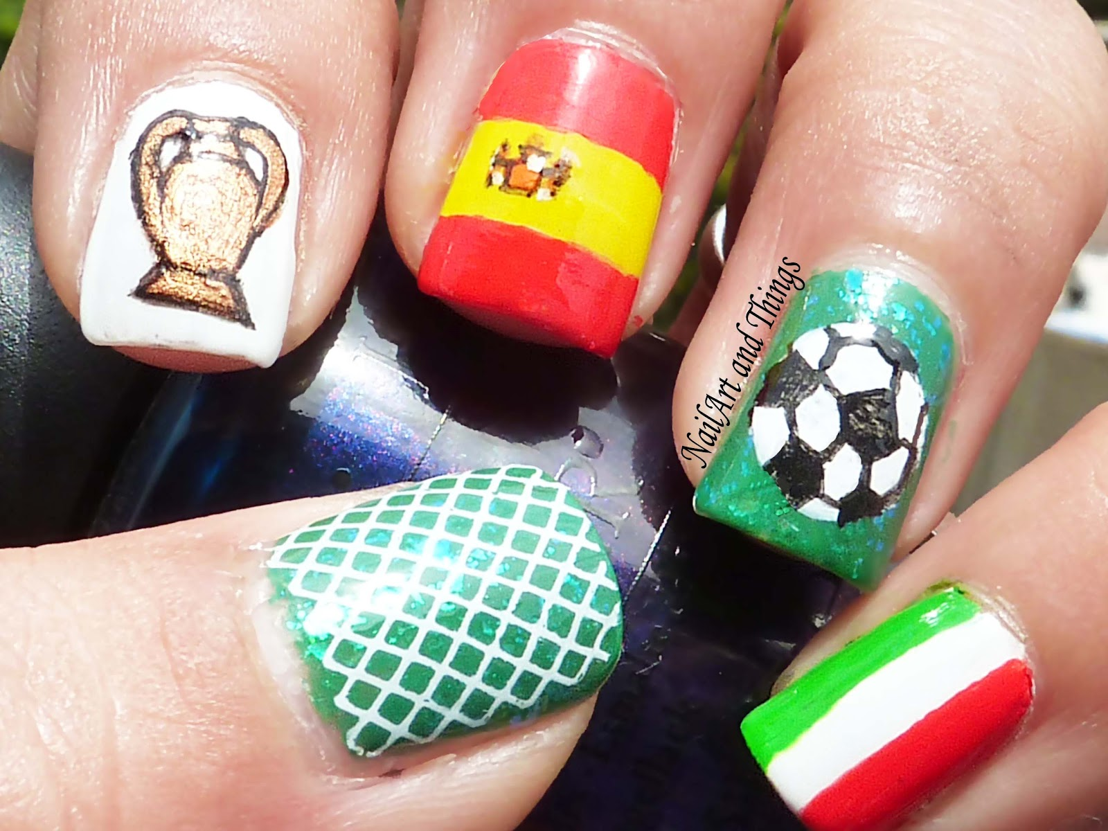 NailArt and Things: Football Fever: UEFA Nail Art
