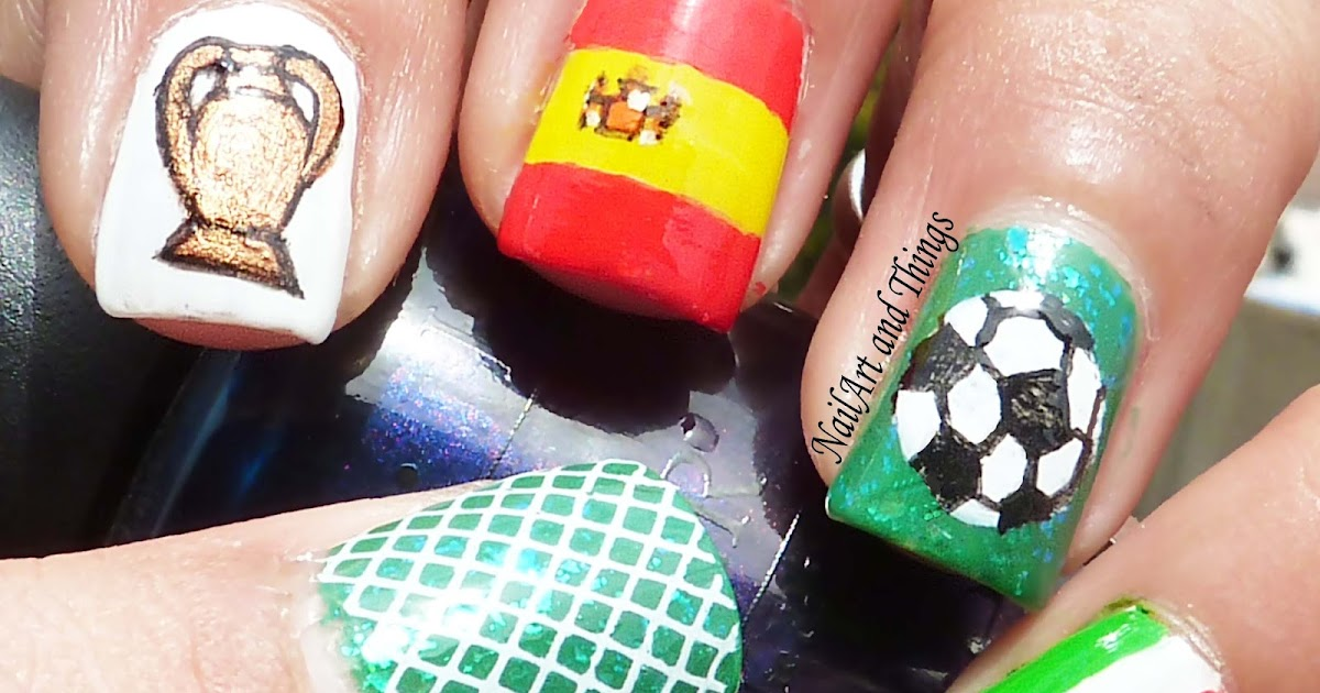 Nailart And Things Football Fever Uefa Nail Art
