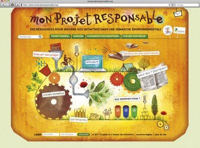 Page d'accueil du site Mon Projet Responsable