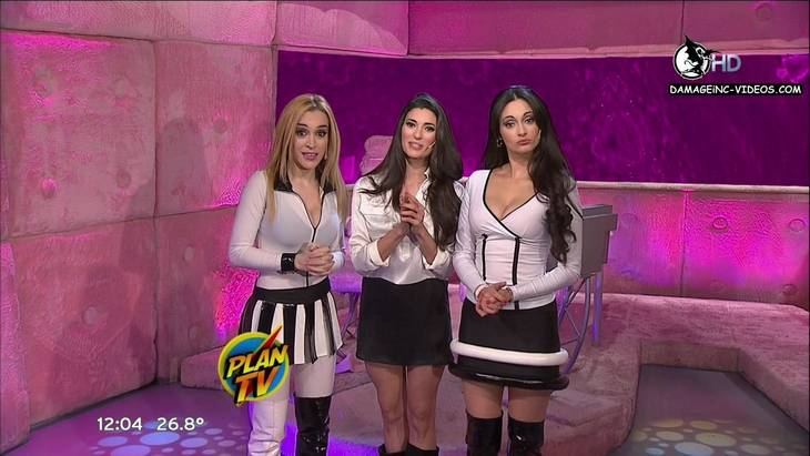 Argentina celebrities from Plan TV huge cleavage