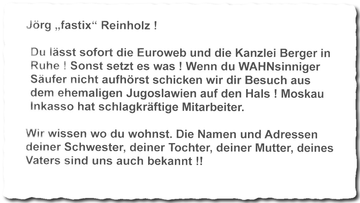 Bedrohung, Euroweb Internet GmbH, Berger Law LLP