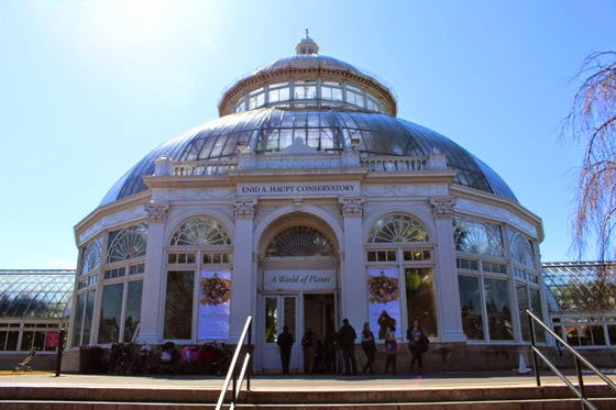 Front view of the NYC Botanical Gardens Conservatory