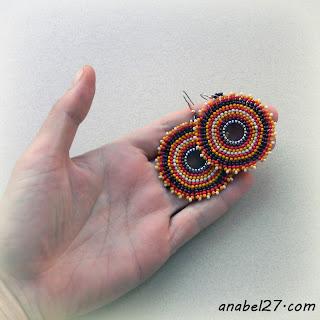 Бисерные серьги - украшения ручной работы от Anabel