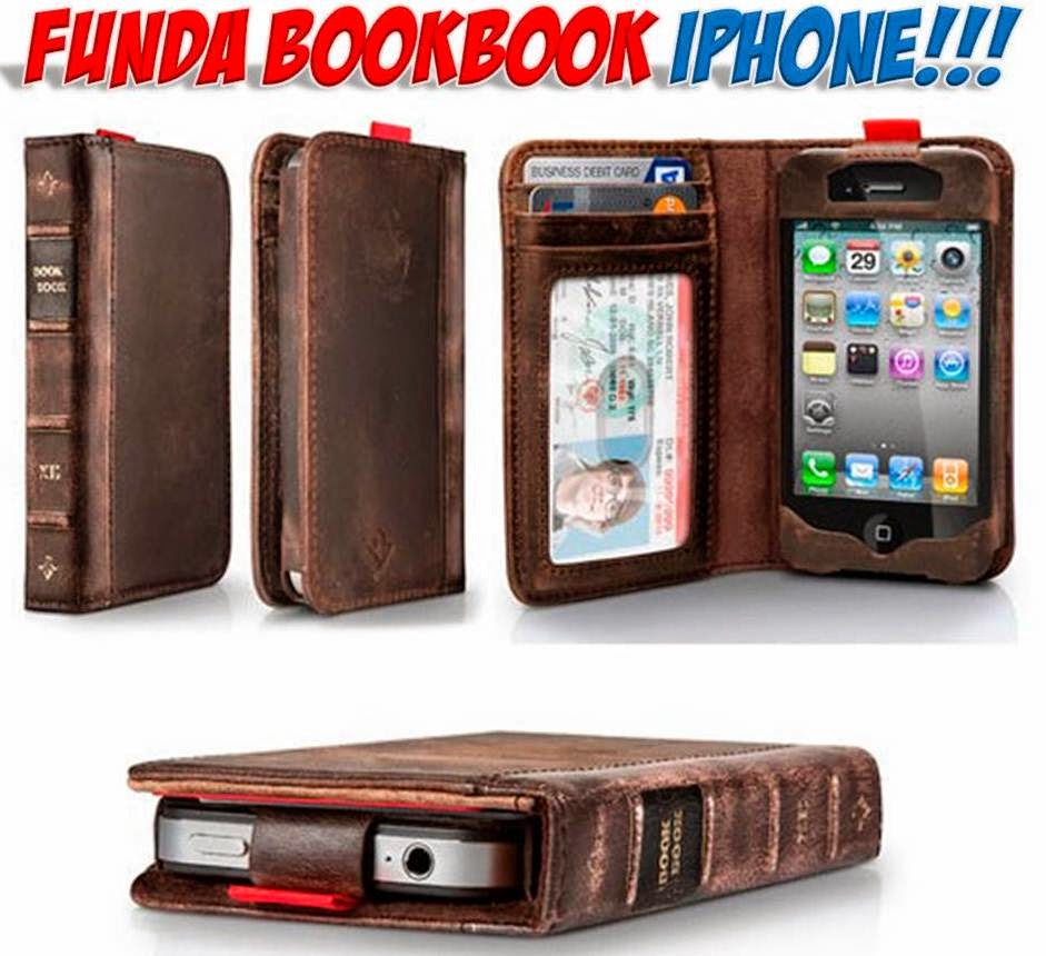 Funda iPhone retro libro antiguo BookBook