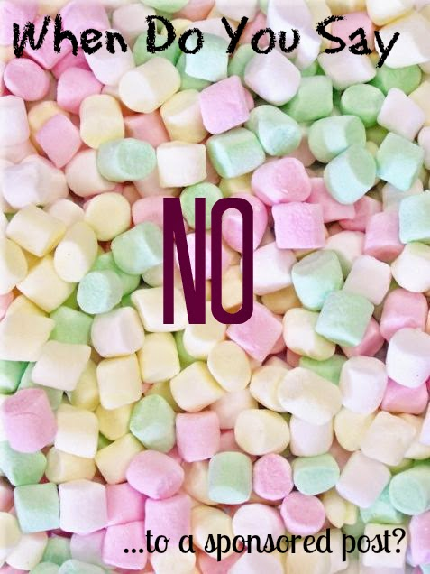 When To Say NO To A Sponsored Post