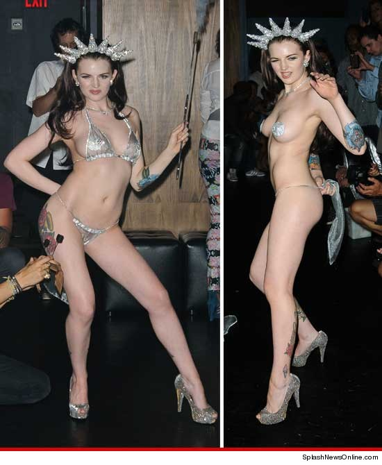 Nude girl butt plug