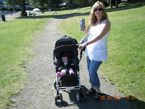 walking granddaughter on Lake Washington