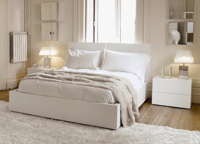 White bedroom furniture idea amazing home design and - Decoration chambre blanche ...