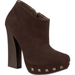 Zapato cerrado botin piel cafe dama modelo 12336