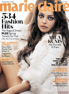 Mila Kunis – Cleavage – Marie Claire Magazine (UK) (Abril 2013)