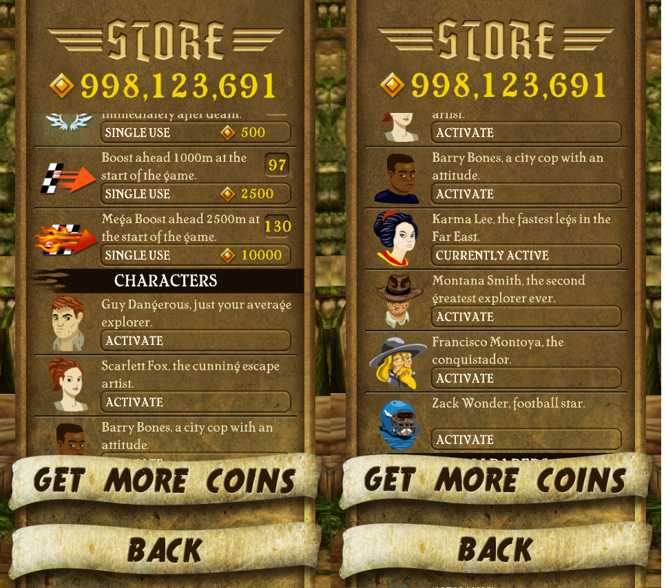 Games) Hack Cheat for Temple Run : Unlock all!