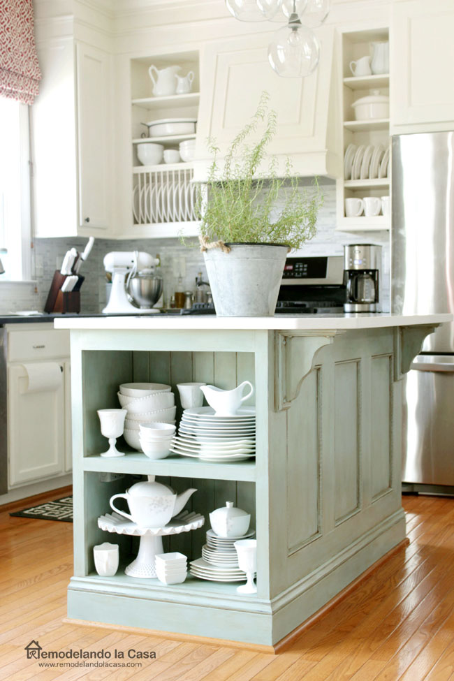 How to paint kitchen cabinets with chalk paint and glaze