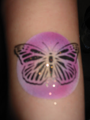 Airbrush Tattoo By Ira Muise Of A Butterfly