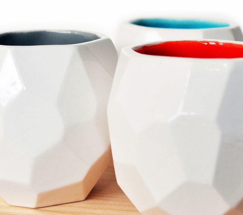 Polygon Espresso Cups- Set, DotandBo