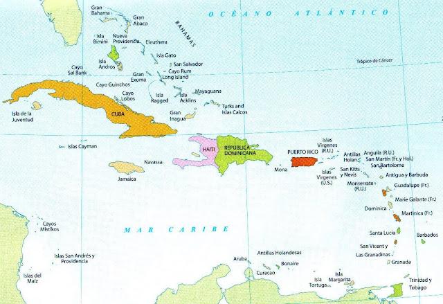 Imag Mapa Antillas de America