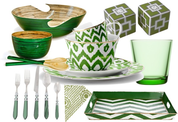 kitchen accessories in green rumah minimalis