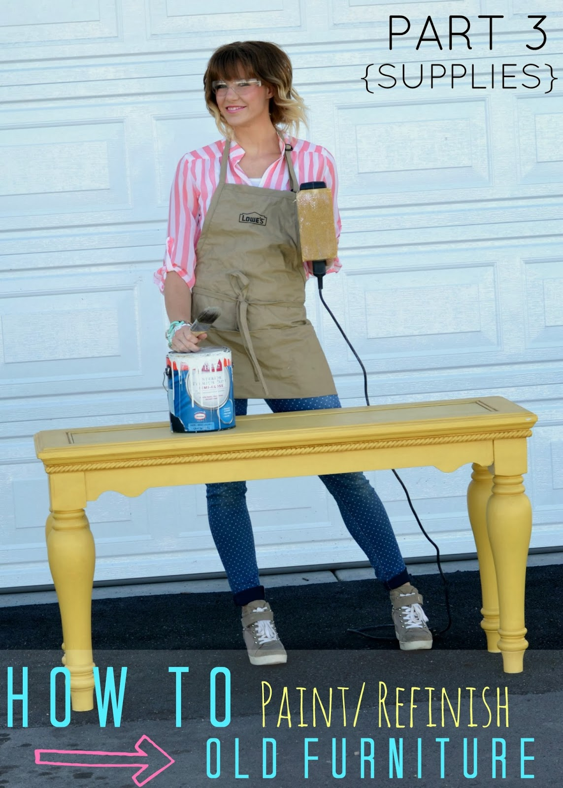A mommy's lifewith a touch of YELLOW: Painting Wood Furniture