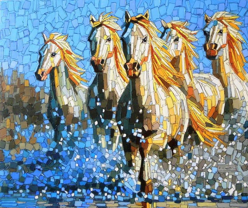 Cuadros modernos pinturas y dibujos im genes de caballos - Fotos y cuadros ...