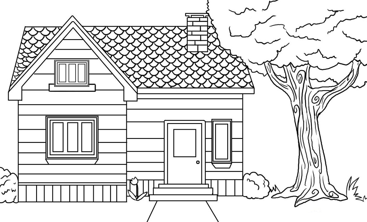 FUN Amp LEARN Free Worksheets For Kid Free House Coloring Pages