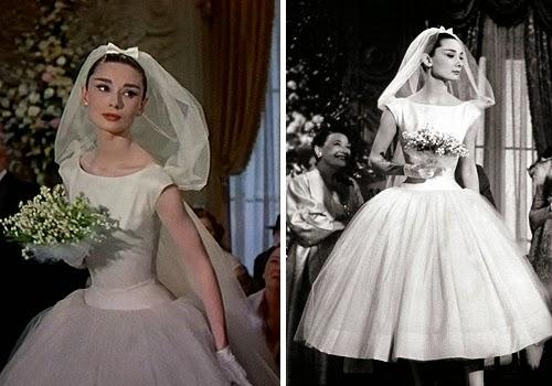 Designer Wedding Dress That Looks Like Audrey Hepburn In Sabrina