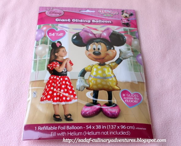 Giant Gliding helium filled Minnie Mouse Foil Balloon