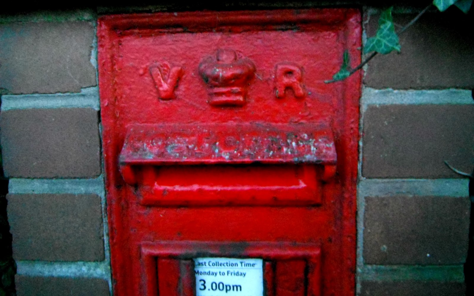 Eccleshall's Victorian post-box