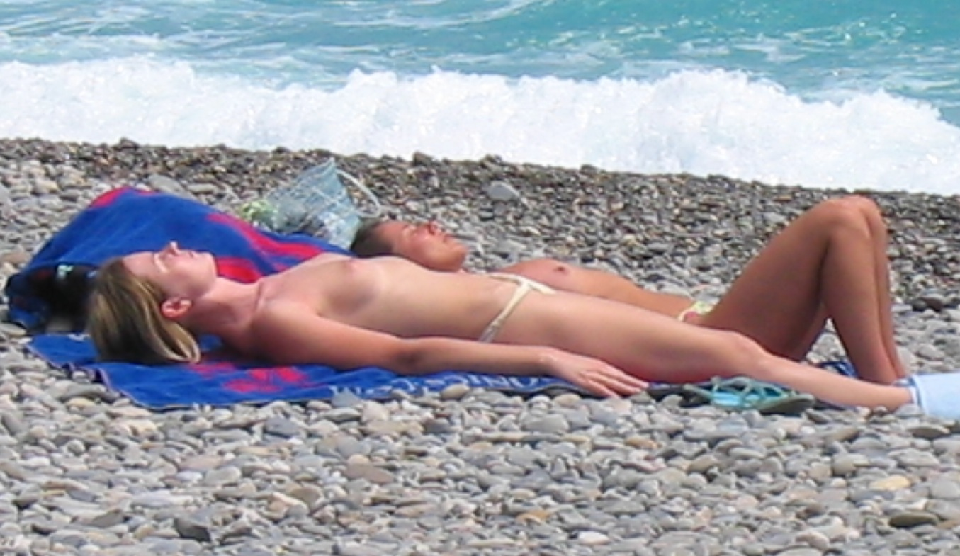 real nudists c te d azur france