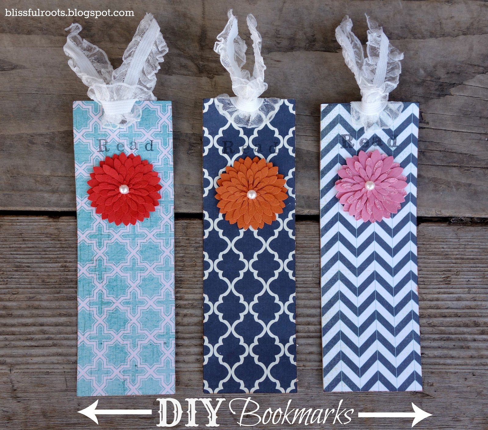 blissful roots diy bookmarks
