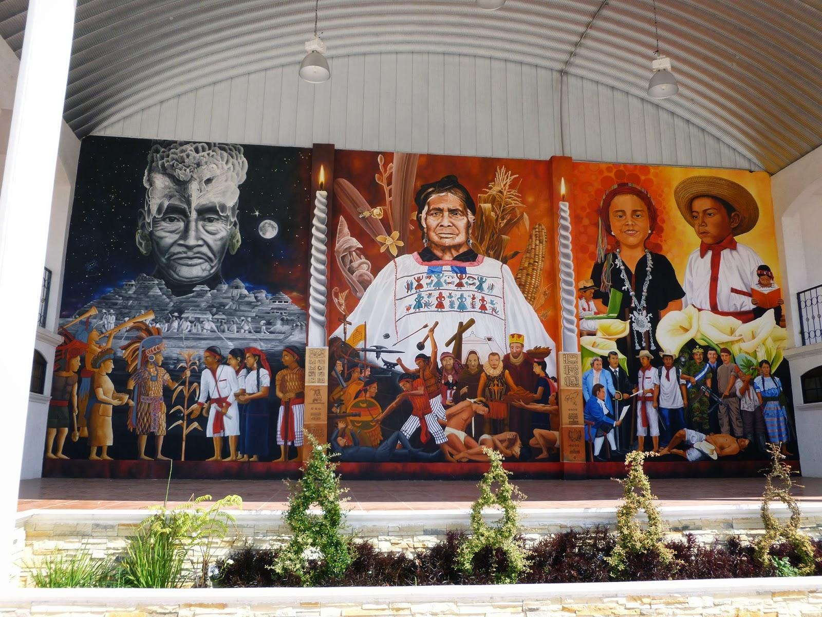 Santa mar a visitaci n la historia narrada en un mural for Caracteristicas de un mural