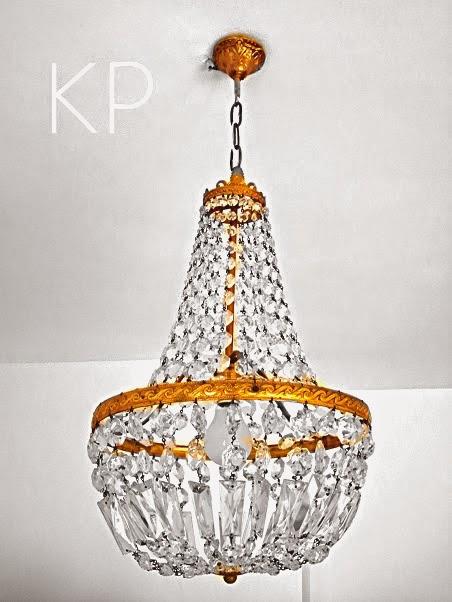 Lampara de lagrimas vintage francesa chandelier