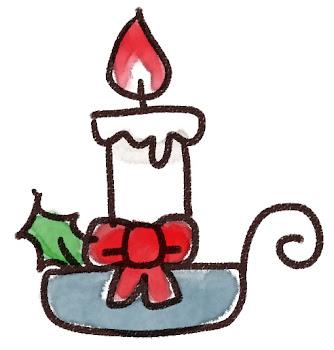 クリスマスキャンドルのイラスト