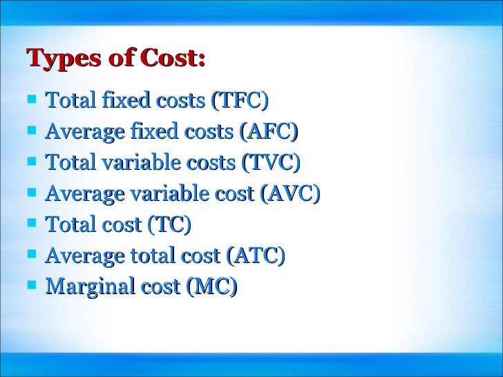 cost concepts Total cost concept in logistics, the idea that all logistical decisions that provide equal service levels should favor the option that minimizes the.