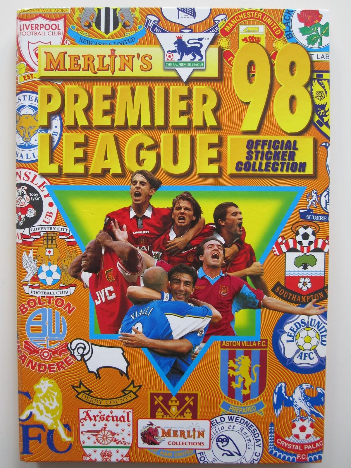 Only good stickers merlin 39 s premier league 98 for Premier league table 99 2000