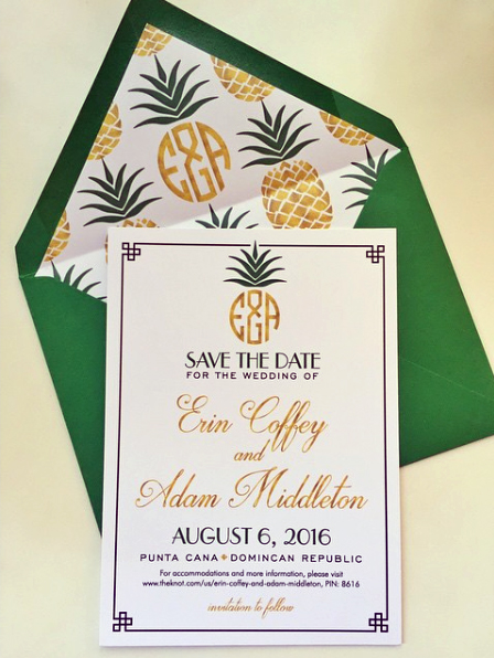 Tropical Destination Wedding Save the Date