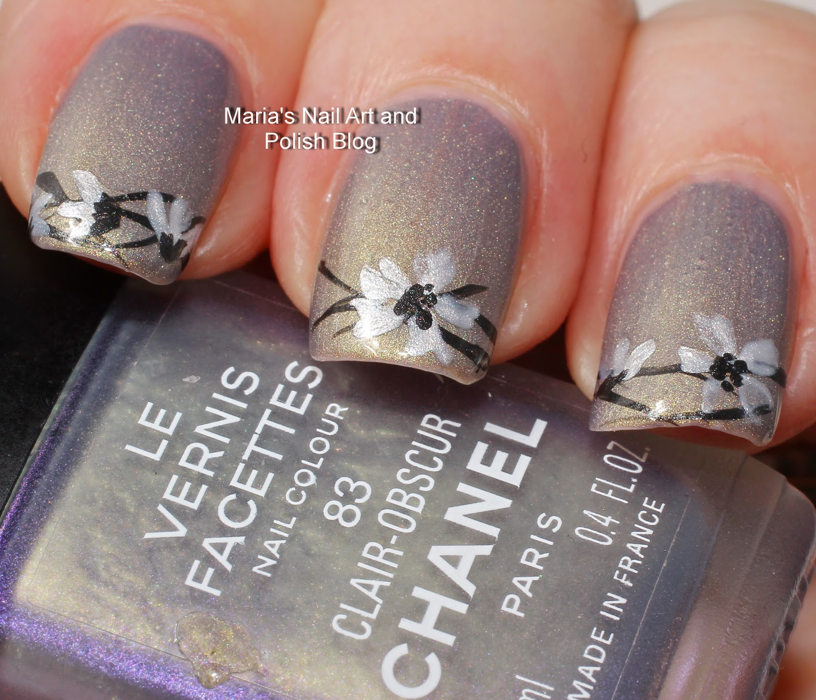 Marias nail art and polish blog obscure flowers for claire 2000 i havent shown swatches yet i kept the nail art simple and tried to stay within a frame of colors suitable for her the top coat is seche vite prinsesfo Choice Image