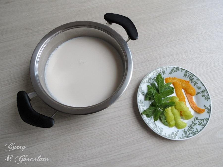 Preparando para infusionar la leche
