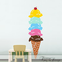 Ice Cream Cone Vinyl Wall Decal