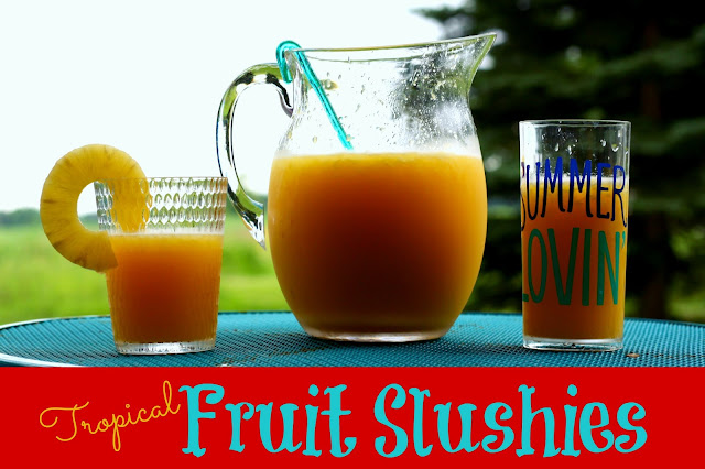Tropical Fruit Slushies #ad #ChooseSkinHealth