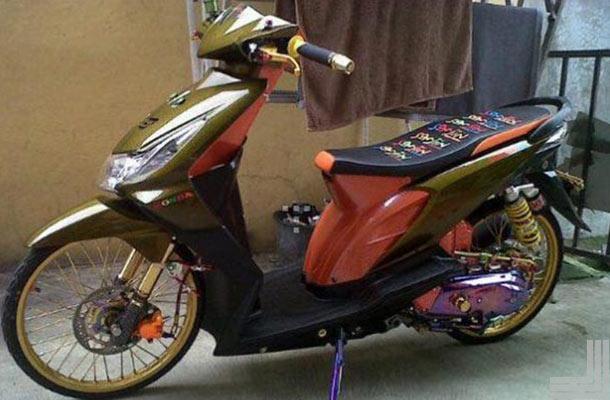 20+ Gambar Modifikasi Motor Honda Beat Standar