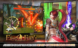Screenshots of the Eternal fury for Android tablet, phone.