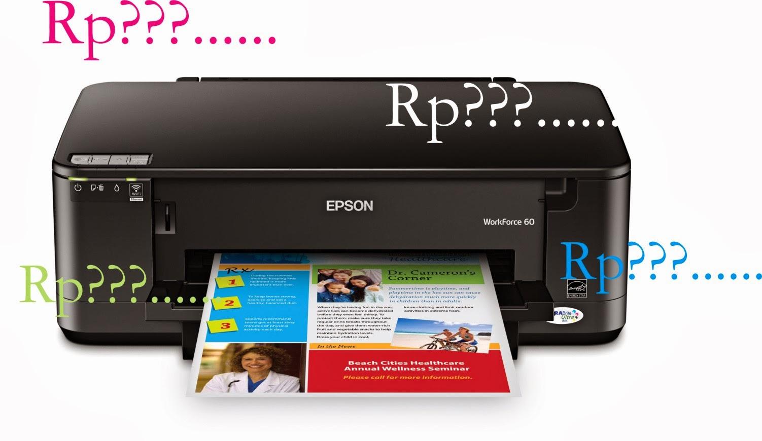 Daftar Harga Printer Epson Terbaru 2015
