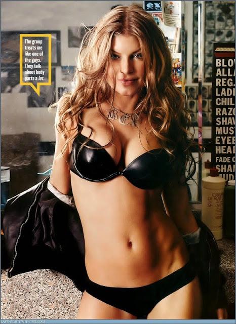 Stacy Ferguson sexy in lingerie