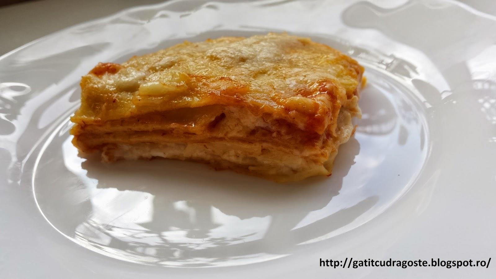 Reteta de Lasagna cu foi de casa