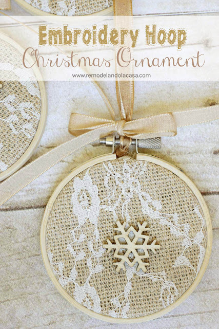 shabby chic ornament, burlap, lace, neutral,